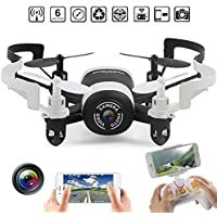 Mini RC Helicopter Drone 2.4GHz 6Aaxis Gyro Headless WIFI FPV Rc Quadcopter with HD Camera Black