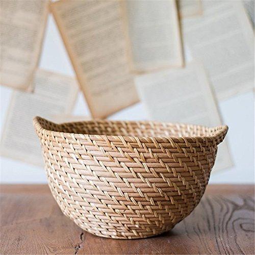 Natural cane weaving storage basket fruit basket