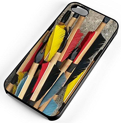 Smoke Bullseye (iPhone Case Fits iPhone SE 5s 5 Wood Arrows Feathers Archery Bow Bulls Eye Smoke Rubber)
