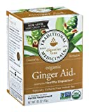 Traditional Medicinals Organic Ginger Aid Tea, 16 Tea Bags (Pack of 6)