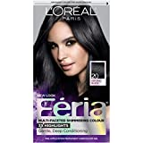 L'Oreal Paris Feria Multi-Faceted Shimmering Color, 20 Black Leather (Natural Black)
