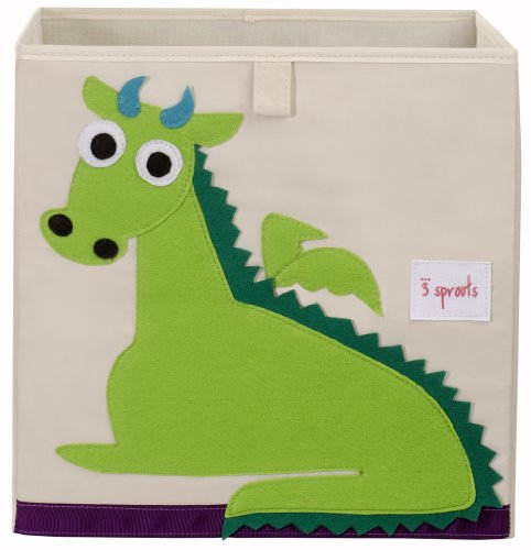 3 Sprouts Storage Box, Dragon (3 Canvas Storage Boxes)