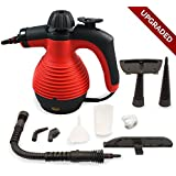 New Version Spill-Proof Multi-Purpose Handheld Steam Cleaner / Steamer with Safety Lock for stain removal, curtains, crevasses, bed bug control, car seats and more