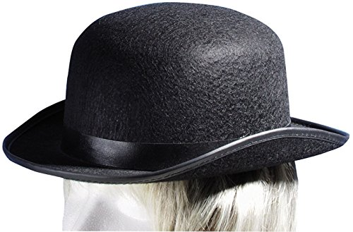 Loftus International Steampunk Felt Derby Bowler Adult Costume Hat Black One Size Novelty Item ()