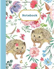 Notebook: Cute Hedgehog Notebook, College Ruled with Lined Pages (Composition Book, Journal) (8.5 x 11 Large)