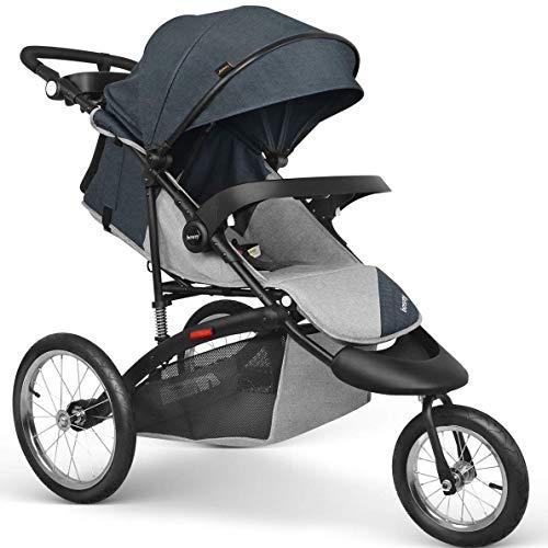 Besrey Baby Jogger City Stroller Cochecito de Ciudad Carrito bebé para Deportes con Ruedas de Bicicleta de 16 Pulgadas Cómodo y Confiable: Amazon.es: Bebé