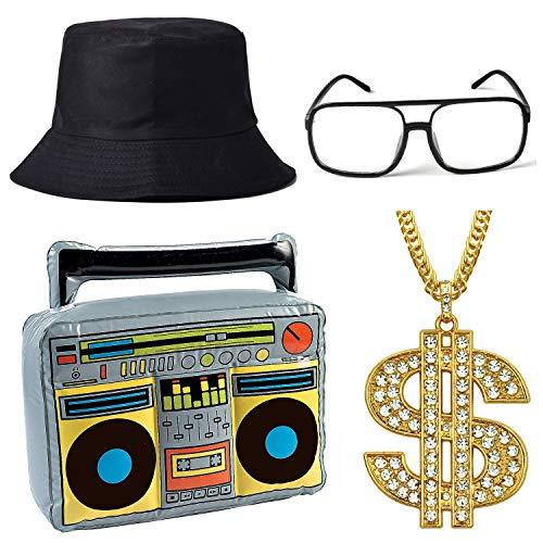 80s 90s Hip Hop Costumes - ZeroShop 80s/90s Hip Hop Costume Kit