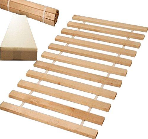Rollrost100x200 (11 Leisten auf 2 meter verteillt) nicht verstellbar unverstellbar Fichtenholz Rolllattenrost geeignet für Kinderbetten
