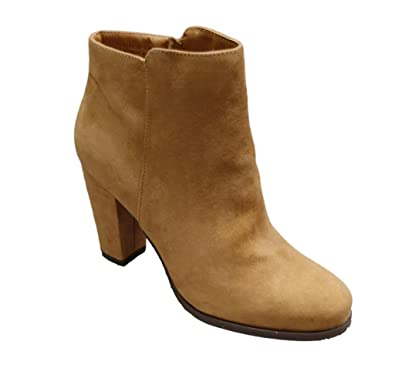 Women's Playdate-03M Imitation Suede Heeled Ankle Bootie