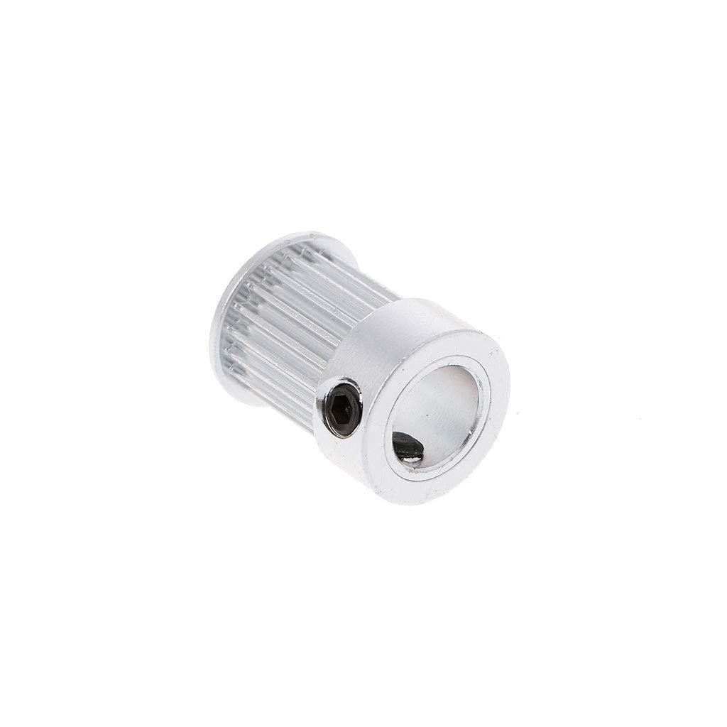 1 JENOR foro 2 GT 5//6,35//8 mm 20 denti puleggia cinghia dentata per larghezza 10 mm foro cinghia dentata cintura stampante 3D parti 5