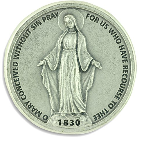 Our Lady of Grace 2 Sided Pocket Token Gift Charm Coins 1.2 Inch