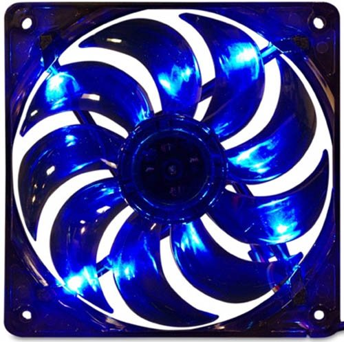 MASSCOOL 120mm Blue LED Cooling Fan BLD-12025V1 (Bearing Blue Ball)