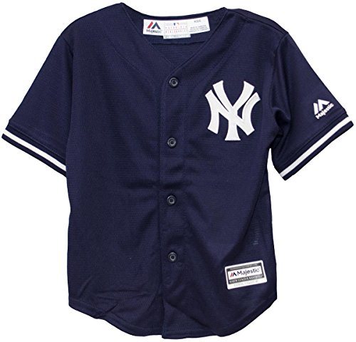 Majestic Infant/Toddler MLB New York Yankees Navy Blue/White Baseball Jersey (Infant 12 Months)]()