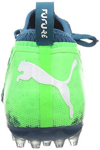 Puma Future 18.2 Netfit MG, Scarpe da Calcio Uomo Blu (Deep Lagoon-puma White-green Gecko)