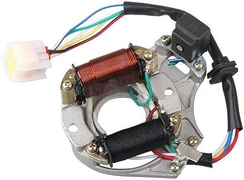 6-coil Stator Left Cover 90 110cc 125 cc Semi auto engine ATV Go Kart Bike black