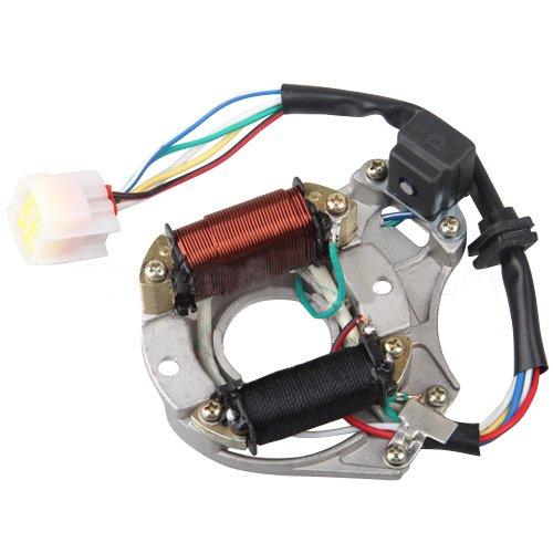 2-Coil Magneto Stator for 50 cc 70cc 90cc 110 cc 125cc ATVs (Magneto Stator)