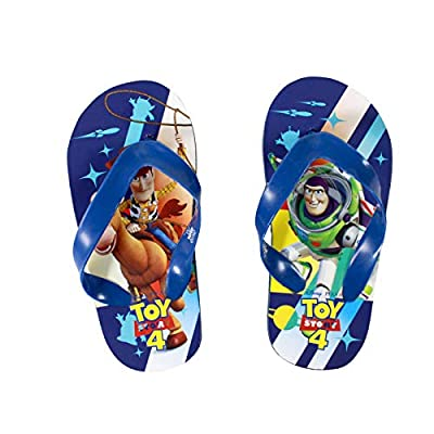 Toy Story 4 Flip Flops Summer Sandals Boys Size 2/3, 11/12 & 13/1 (2/3, Blue with Blue Strap): Toys & Games