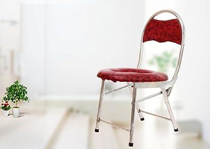GAOFG bacinillas silla plegable embarazada minusválidos WC ...