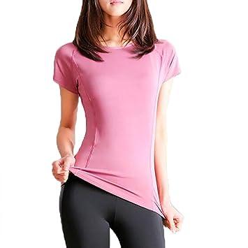 ZMJY Camiseta de Entrenamiento de Yoga, para Mujer, con ...