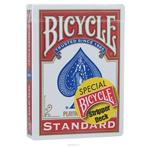 (Bicycle Stripper Playing Cards Trick Deck (RED) Edition Box by Penguin Magic)