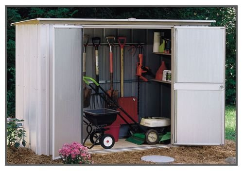 Garden 8x3 Storage Shed - Coffee / Taupe by ShelterLogic Corp.