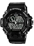 Skmei S-shock Multi Función Reloj Militar Hombres Analog Display LED digital Deporte Reloj De Pulsera Color Blanco