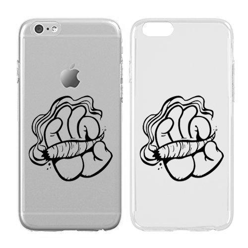 Compatible For Iphone X Cream Cookies Ultra Slim Hard Plastic Cover Case Weed Weed Hand Cartoon Hand Weed Patterm Weed Background