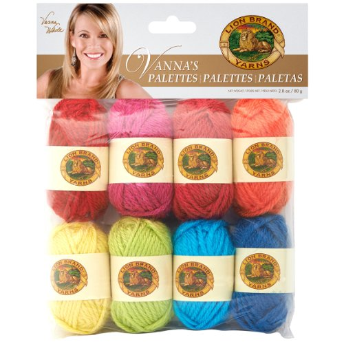 Lion Brand Yarn 865-201 Vanna's Palettes Yarn, Happy
