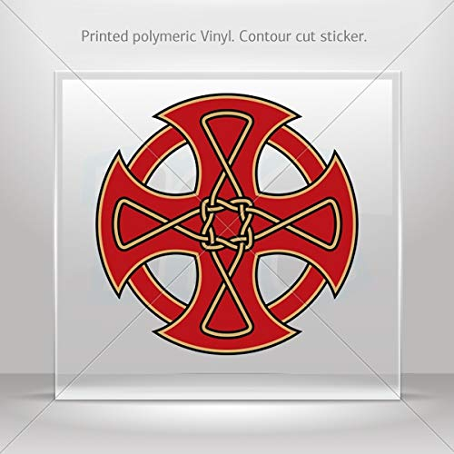 (Decals Decal Celtic Cross Car Door Hobbies Waterproof Racing Durable R (20 X 20 Inches))