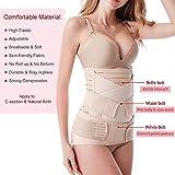 Postpartum Belly Wrap 3 in 1 Belt, Postpartum Belly Girdle Support Recovery Waist Pelvis Band, Body Shaper Postnatal Shapewear