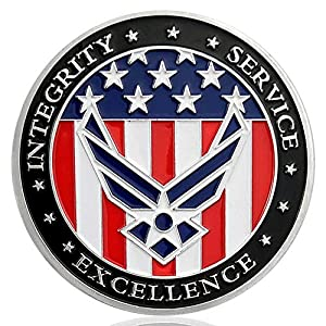 US Air Force Oath of Enlistment Challenge Coin for Airman's Gifts by Amazinga