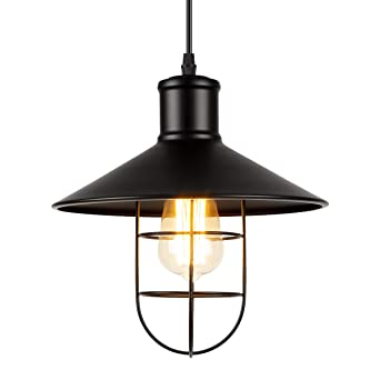 Pendant Shade with for Coffee Cage Office Ceiling Loft GIGALUMI Bar Lighting Metal Vintage E27 Kitchen Industrial Lamp Retro Light Restaurant bf6I7gyYv