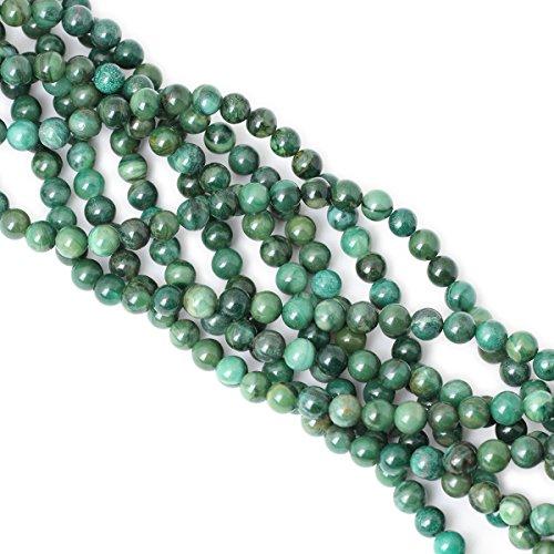 "CHEAVIAN 45PCS 8mm Natural Verdite Stone African Jade Gemstone Round Loose Beads for Jewelry Making DIY Findings 1 Strand 15"""
