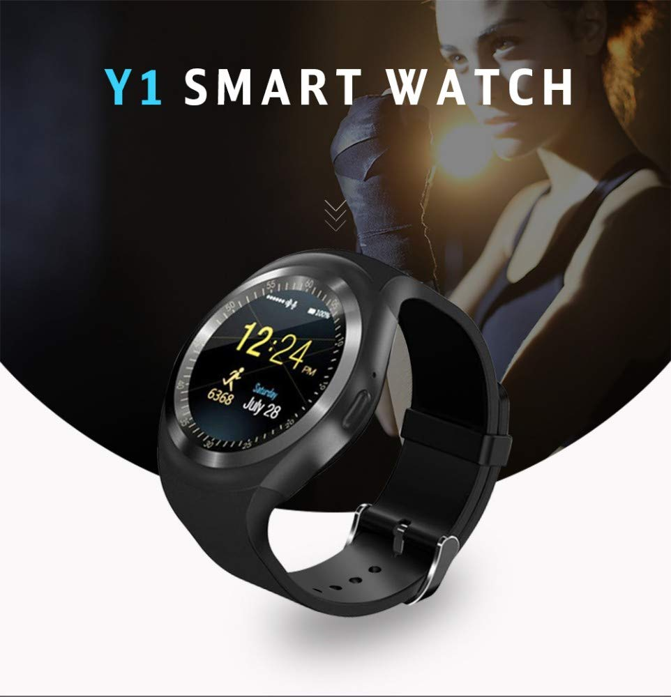 YWHY Bluetooth Y1 Smart Watch Llamada de teléfono gsm Sim ...