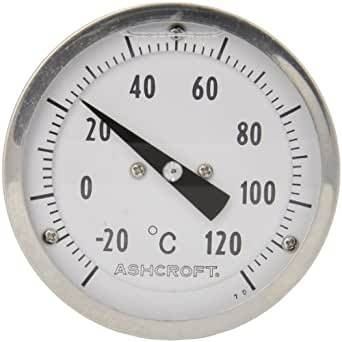 Ashcroft el series bimetal thermometer 3 dial size 1 2 for Poolthermometer obi