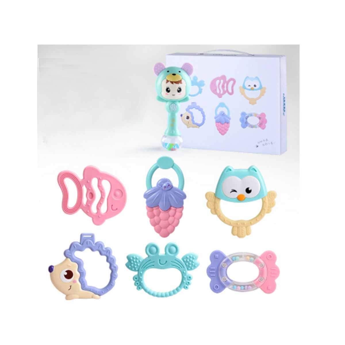 Qiaoxianpo01 Baby Toys, Early Childhood Educational Toys, Baby Rattles Can Bite The Hand to Catch Educational Toys,with A Rattle, H ( Edition : L )