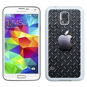 Fashionable Custom Designed Samsung Galaxy S5 I9600 G900a G900v G900p G900t G900w Phone Case With Metallic Pattern Apple Logo_White Phone Case