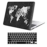 iLeadon Macbook Pro 13 Inch Case With CD ROM 2008-2012 Release Model A1278 Rubberized Hard Shell Cover+Keyboard Cover For MacBook Pro 13' Non Retina Display, Nebula Map