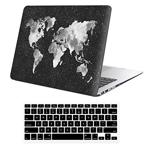 iLeadon Macbook 12 inch Case Model A1534 Protective Hard Case Rubber Coated Ultra Thin Shell Cover+Keyboard Cover For MacBook 12 Inch With Retina Display ,Nebula Map