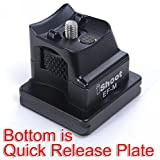 iShoot Metal Replacement Base Foot Stand for Canon EF-EOS M Mirrorless Camera Lens Mount Adapter Ring -Bottom is Camera Quick Release Plate Feature