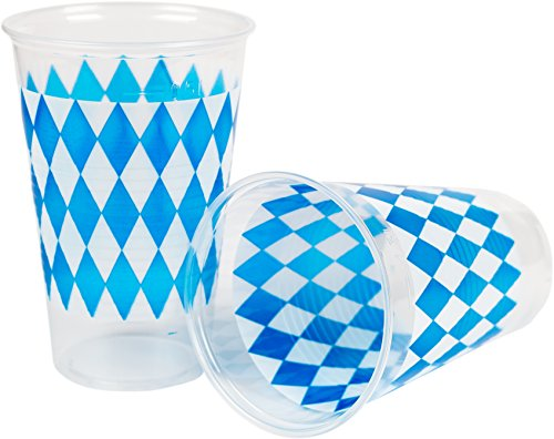 Heku Cups, Plastic, Clear, 9.5x 9.5x 17cm, 50Units
