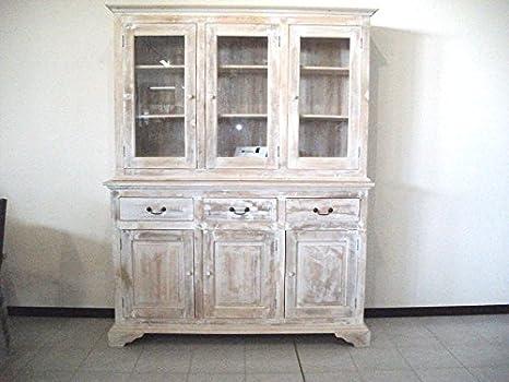 Credenza Shabby Per Cucina : Credenza shabby chic mobile in teak massello: amazon.it: casa e cucina