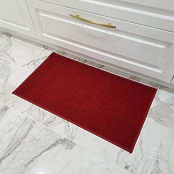 Amazon Com Maxy Home Doormat 18x30 Solid Red Rubber