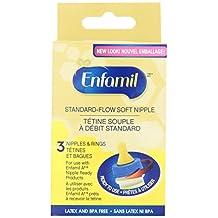 Enfamil Standard-Flow Soft Nipples, 3 Count