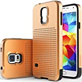 Caseology Mesh Armor for Galaxy S5 Case (2014) - Dual-Layered - Copper Gold