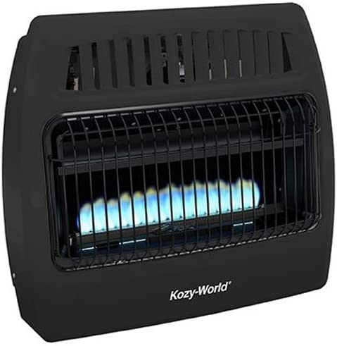 World MKTG of America Import Comfort Glow Utility Gas Wall Heater, Black