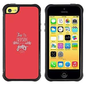Suave TPU GEL Carcasa Funda Silicona Blando Estuche Caso de protección (para) Apple Iphone 5C / CECELL Phone case / / Christmas Holiday Season Jolly Pink Winter /