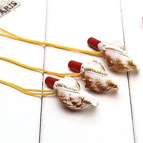 Whistle Natural Shell Pendant Children Kids Educational Toys ON (Conch Horn)