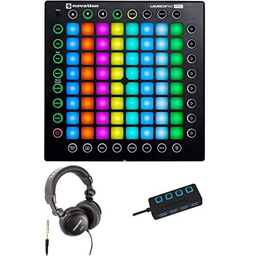 Novation Launchpad Pro USB MIDI Ableton Live Controller with Headphones and  4-Port 3 0 USB HUB