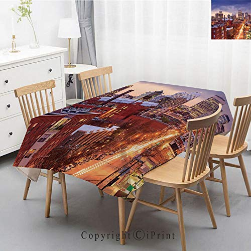 Plaid Richmond - Plaid Decorative Linen Tablecloth With Tassel Oilproof Thick Rectangular Wedding Dining Table Cover Tea Table Cloth,55x87 Inch,United States,Richmond Virginia Highway Office Buildings Downtown at Dusk
